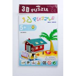 PUZZLE 3D CHATKA RYBAKA /...